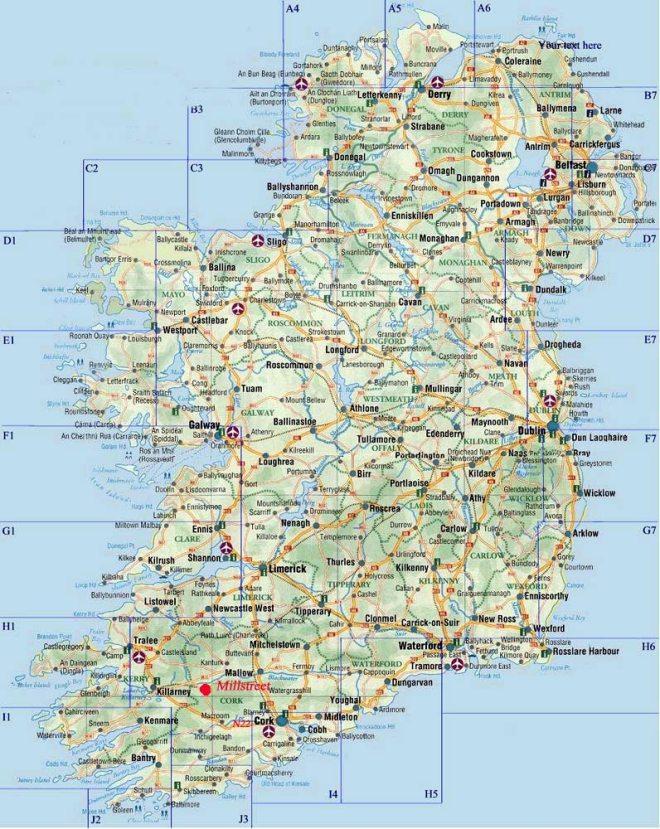Dublin On Map Of Ireland.Download Maps From Around Ireland Wander Ireland