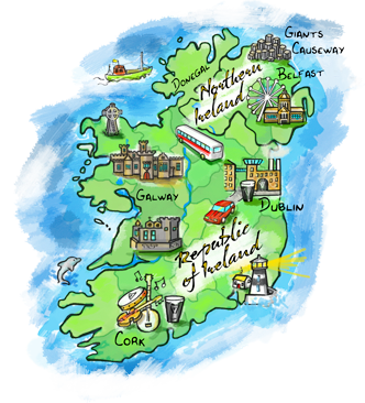 Map Of Ireland Near Dublin.Download Maps From Around Ireland Wander Ireland